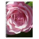 Color de rosa rosado de Splendorous Libro De Apuntes Con Espiral
