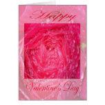 Color de rosa rosado del día de San Valentín con g Tarjetón