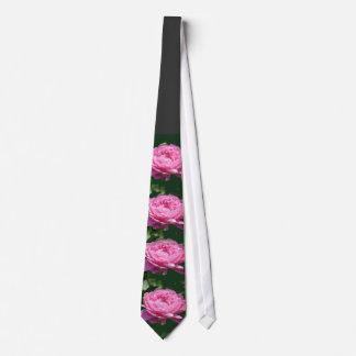 Color de rosa rosado del Peony Corbata Personalizada