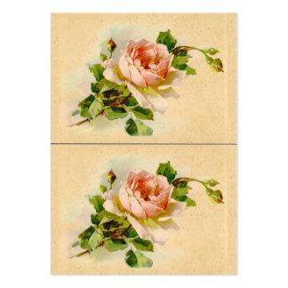 Color de rosa rosado del Victorian Plantilla De Tarjeta Personal