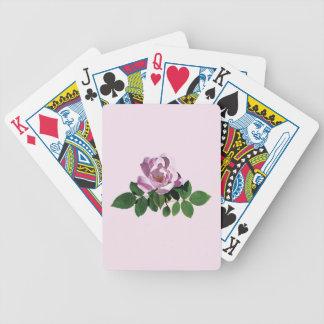 Color de rosa rosado delicado baraja de cartas bicycle