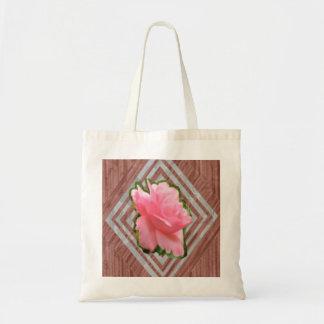 Color de rosa rosado en cordón bolsa tela barata