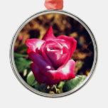 Color de rosa rosado en el alto Sun Ornaments Para Arbol De Navidad