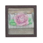 Color de rosa rosado en piano cajas de recuerdo de calidad