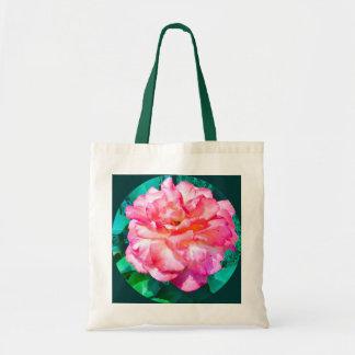 Color de rosa rosado enmarcada bolsa tela barata