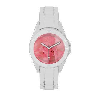 Color de rosa rosado etéreo reloj de mano