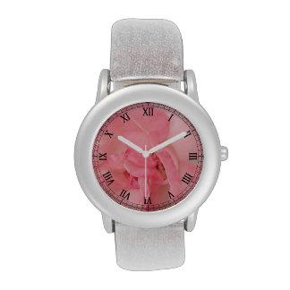 Color de rosa rosado etéreo relojes de mano