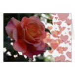 color de rosa rosado felicitación