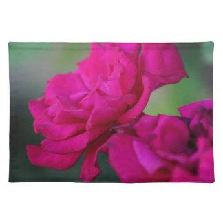 Color de rosa rosado florecida mantel