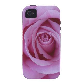 Color de rosa rosado vibe iPhone 4 fundas