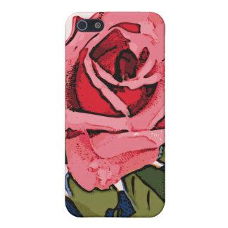 Color de rosa rosado iPhone 5 coberturas