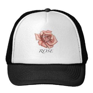 Color de rosa rosado gorro