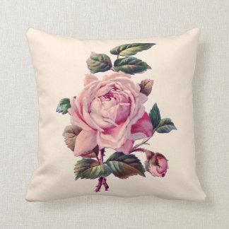 Color de rosa rosado hermoso del vintage almohadas
