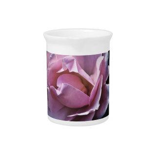 Color de rosa rosado magnífico en negro jarrón