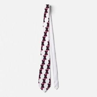 Color de rosa rosado negro del corsé corbatas personalizadas