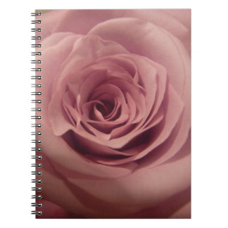 Color de rosa rosado oscuro libro de apuntes con espiral