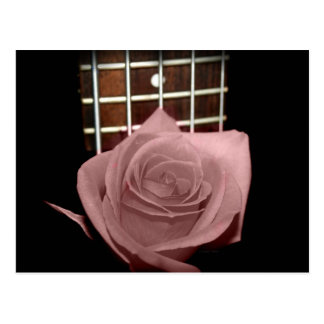 Color de rosa rosado oscuro silenciado con fboard postales