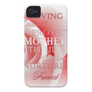 Color de rosa rosado para la mamá iPhone 4 cárcasa