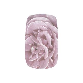 Color de rosa rosado pegatinas para manicura