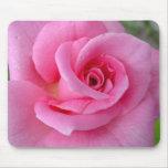 Color de rosa rosado perfecto alfombrilla de raton