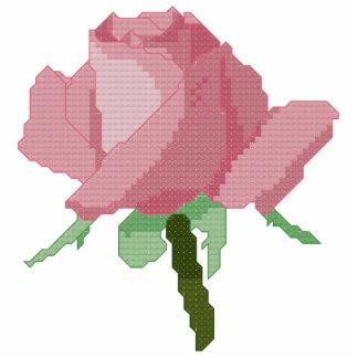 Color de rosa rosado pin fotoescultura