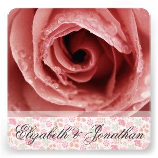 Color de rosa rosado polvoriento con casarse de la