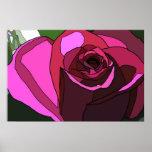 Color de rosa rosado posters