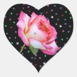 Color de rosa rosado precioso, pegatina