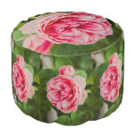 Color de rosa rosado puf redondo