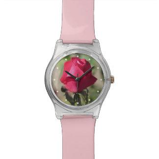 Color de rosa rosado relojes de mano