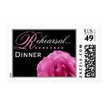 Color de rosa ROSADO - sello del ensayo del boda