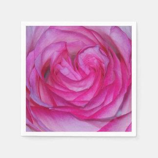 Color de rosa rosado servilleta de papel