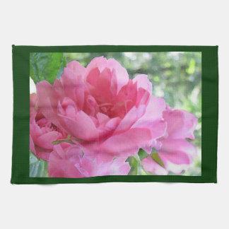 Color de rosa rosado suave toallas