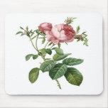 Color de rosa rosado tapete de raton