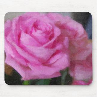Color de rosa rosado tapete de ratón