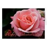 Color de rosa rosado • Tarjeta de felicitación del