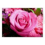 Color de rosa rosado tarjetas