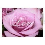 Color de rosa rosado tarjetón