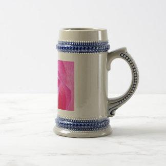Color de rosa rosado jarra de cerveza