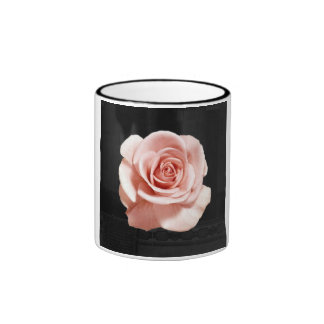 Color de rosa rosado taza de café