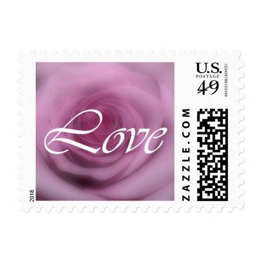 color de rosa rosado timbre postal