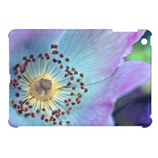 Color de rosa salvaje azul y púrpura iPad mini coberturas