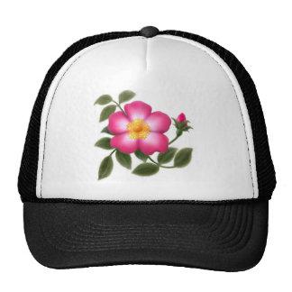 Color de rosa salvaje elegante gorras