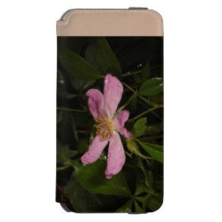 Color de rosa salvaje funda cartera para iPhone 6 watson