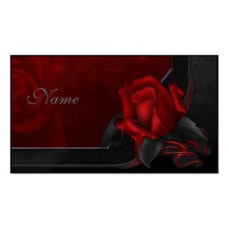 Color de rosa sangriento - diseño gótico tarjetas de visita