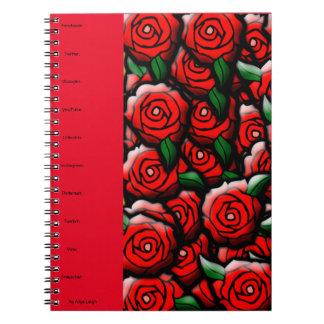 Color de rosa social de Aliya Leigh Libro De Apuntes