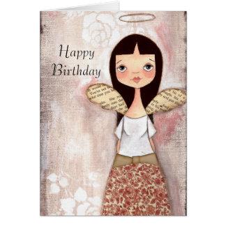 Color de rosa - tarjeta de cumpleaños