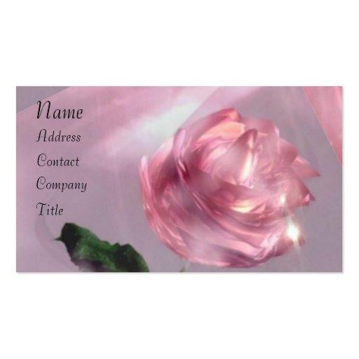 Color de rosa tarjetas de visita