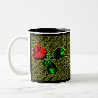 Color de rosa taza de café