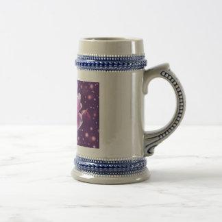 Color de rosa jarra de cerveza